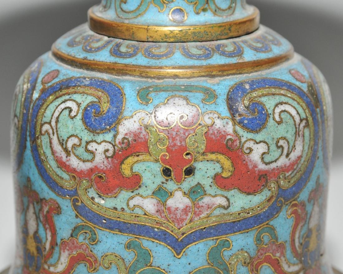 Fünfteilige Altargarnitur China, späte Qing-Dynastie. - 9
