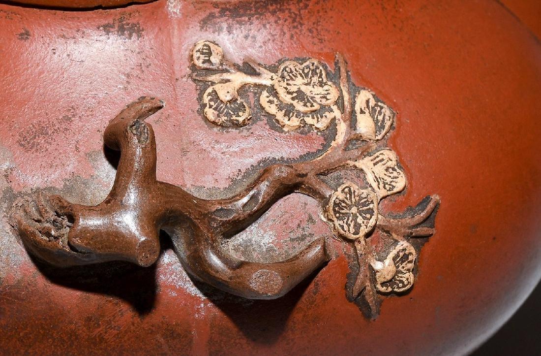 Teekanne China. Yixing-Keramik. Blütenform. Tülle und - 10