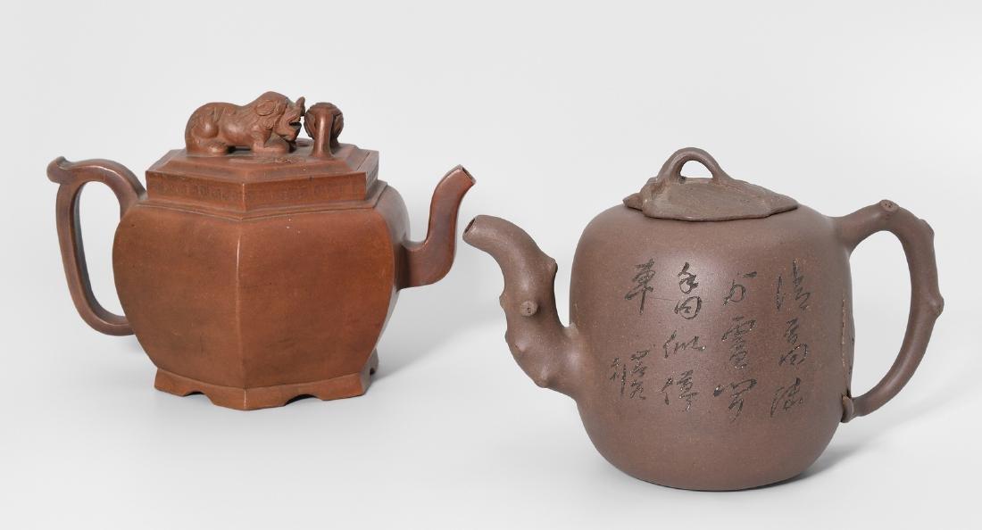 Lot: 2 Teekannen China. Yixing-Keramik. Passige,