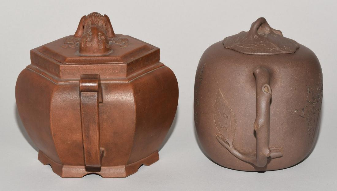 Lot: 2 Teekannen China. Yixing-Keramik. Passige, - 4