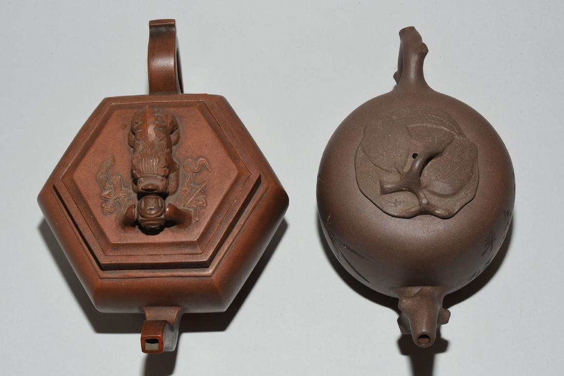 Lot: 2 Teekannen China. Yixing-Keramik. Passige, - 5