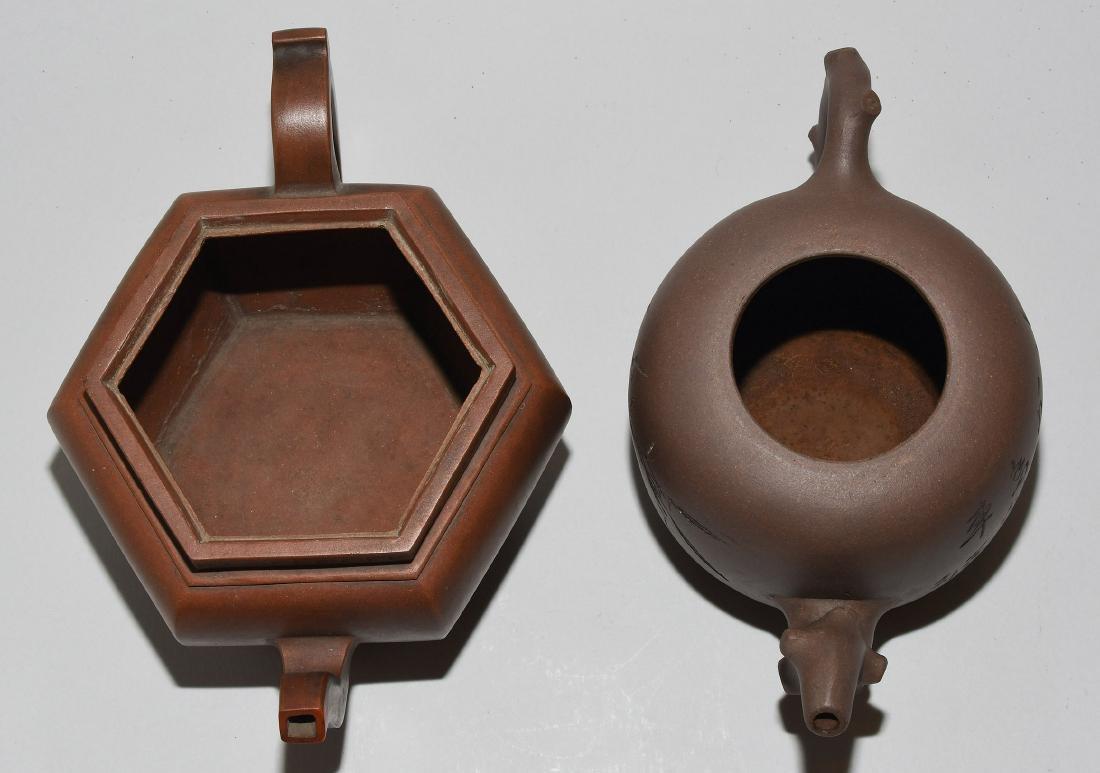 Lot: 2 Teekannen China. Yixing-Keramik. Passige, - 6