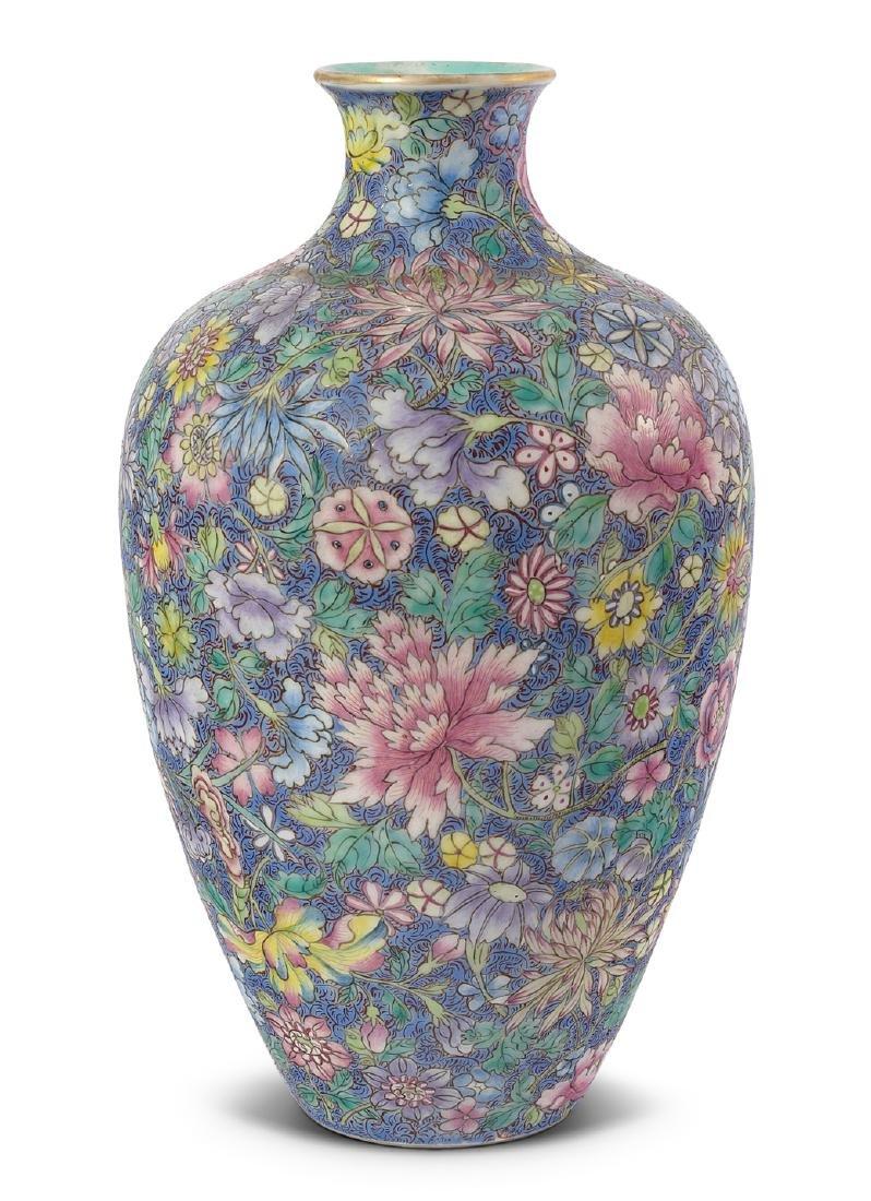 Vase China, 1.Hälfte 20.Jh. Porzellan. Eisenrote