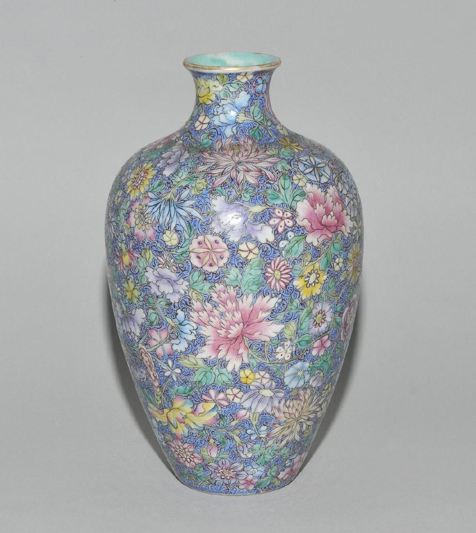 Vase China, 1.Hälfte 20.Jh. Porzellan. Eisenrote - 2