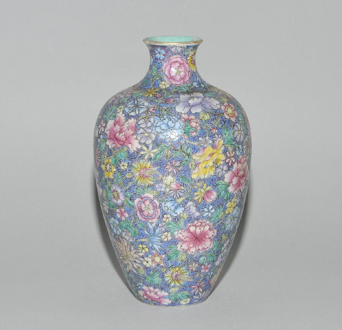 Vase China, 1.Hälfte 20.Jh. Porzellan. Eisenrote - 3