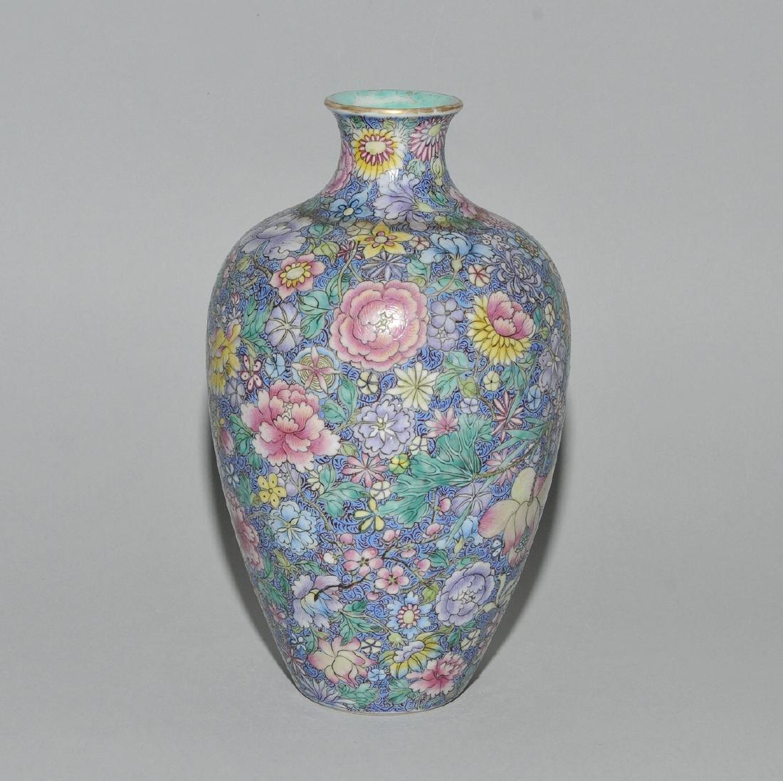 Vase China, 1.Hälfte 20.Jh. Porzellan. Eisenrote - 4