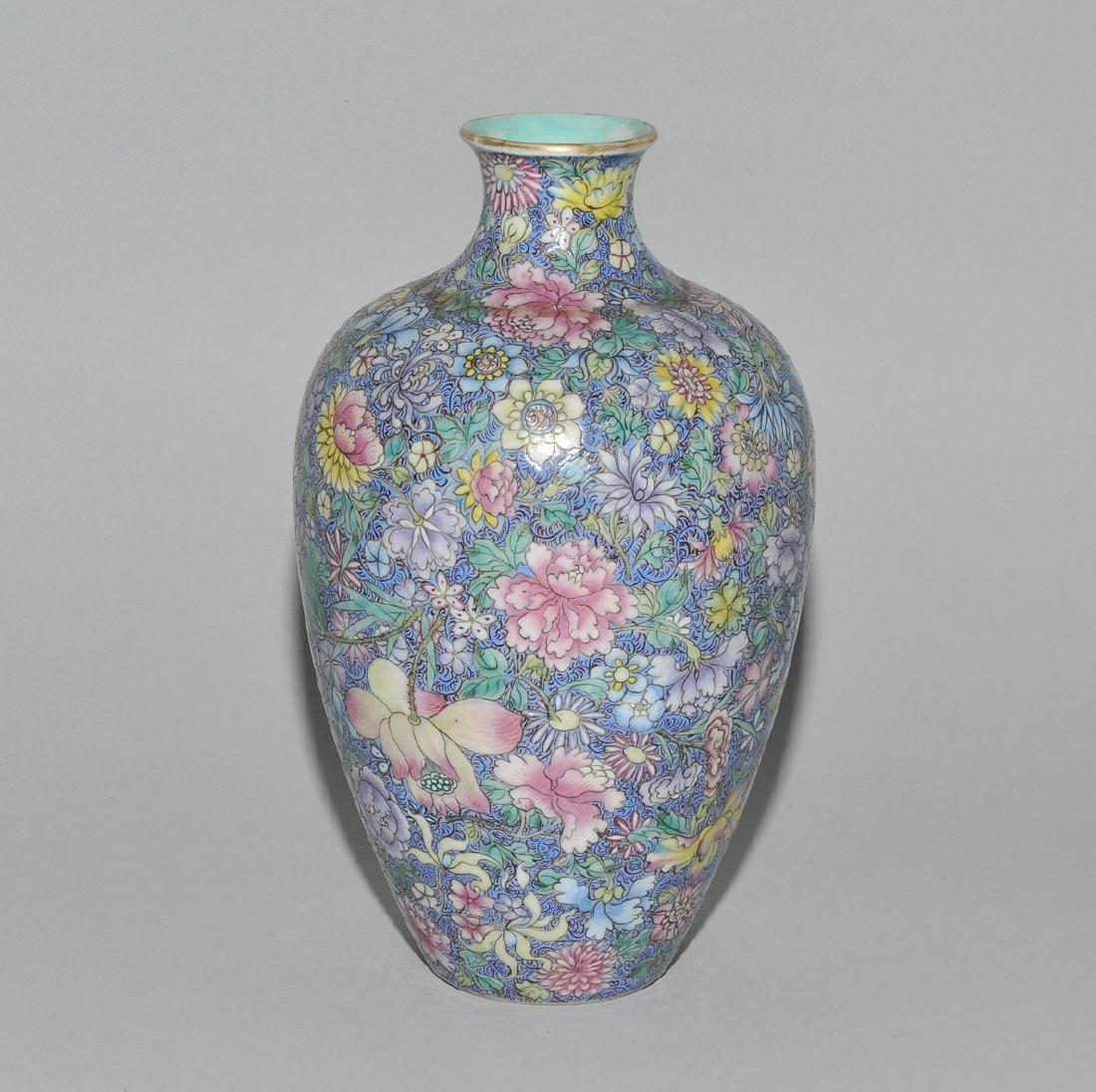 Vase China, 1.Hälfte 20.Jh. Porzellan. Eisenrote - 5