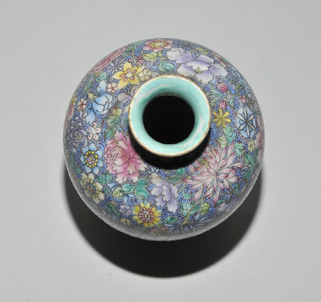 Vase China, 1.Hälfte 20.Jh. Porzellan. Eisenrote - 6