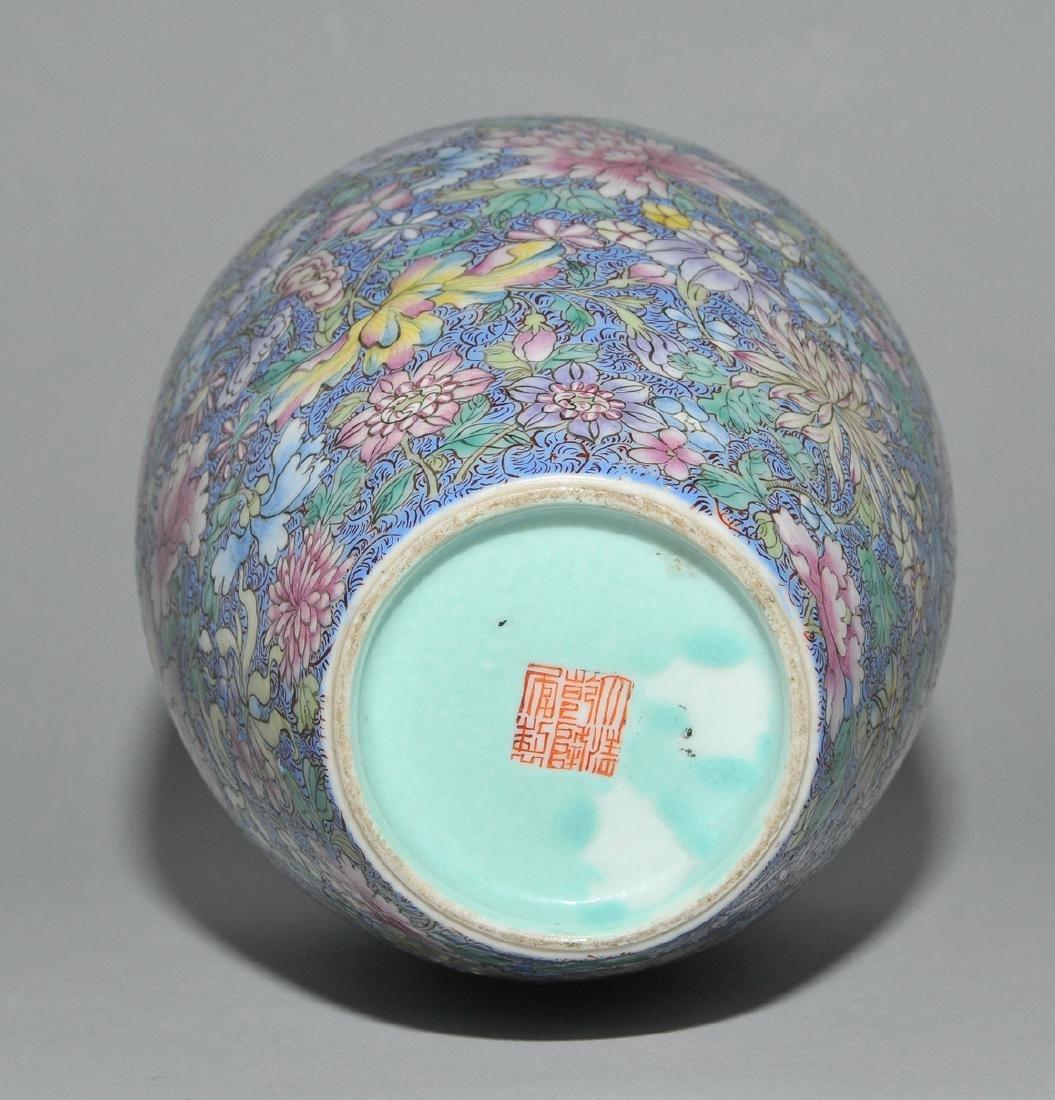 Vase China, 1.Hälfte 20.Jh. Porzellan. Eisenrote - 7
