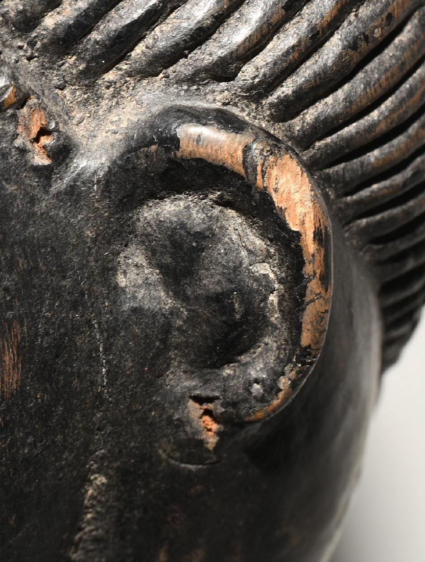 """""""Sowei""""-Maske Vai. Sierra Leone/Liberia. Holz, schwarz - 8"""