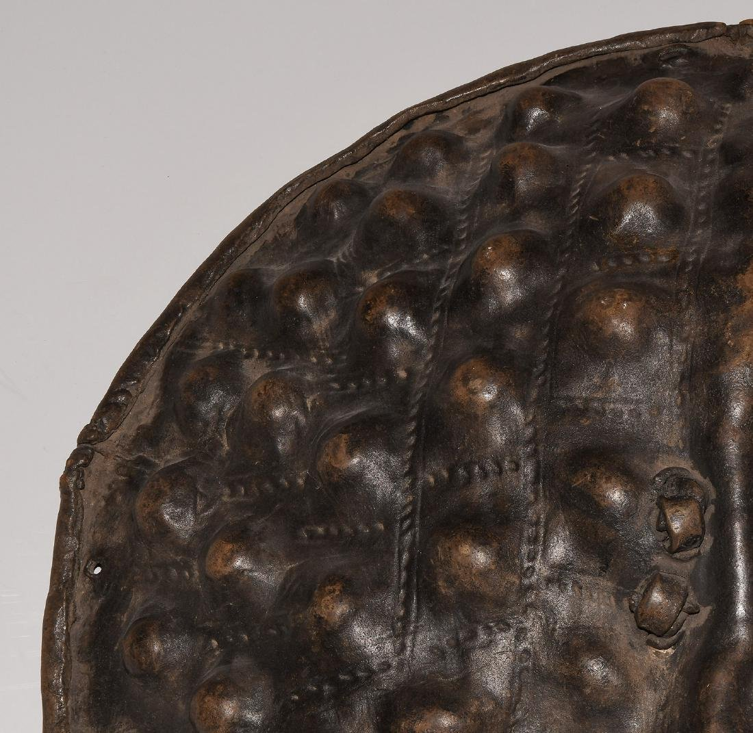 Schild Amarro. Äthiopien. Tierhaut, dunkelbraune - 2