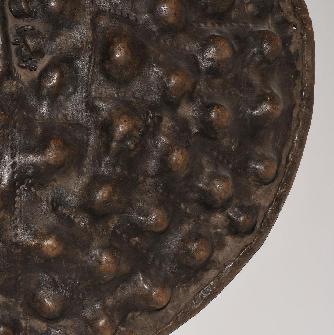 Schild Amarro. Äthiopien. Tierhaut, dunkelbraune - 4