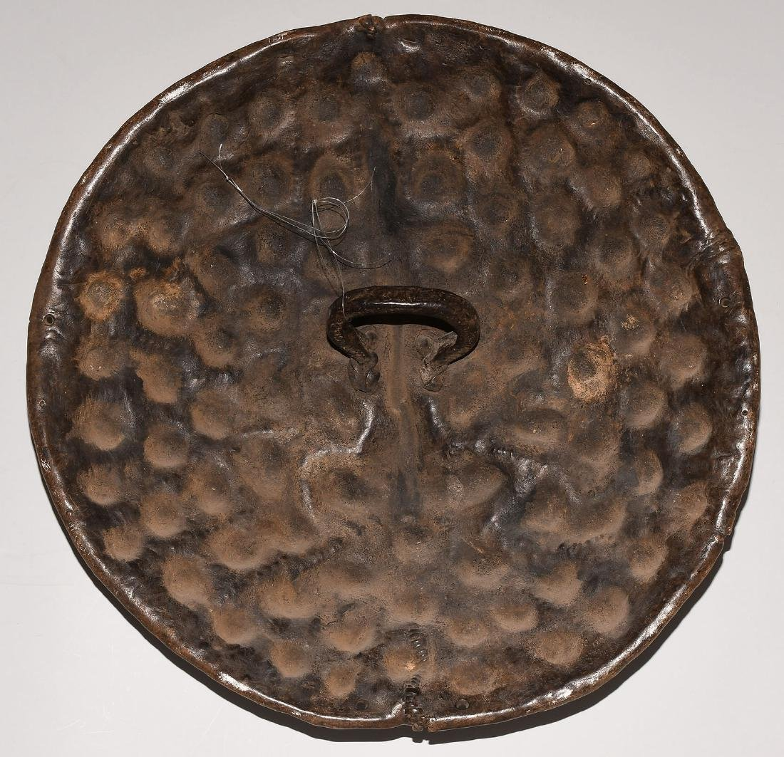 Schild Amarro. Äthiopien. Tierhaut, dunkelbraune - 6