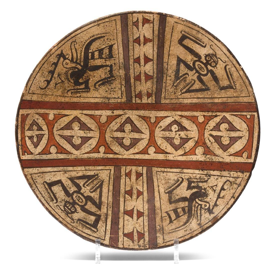 Platte Coclé, Panama, 1000–1500 A.D. Keramik, polychrom