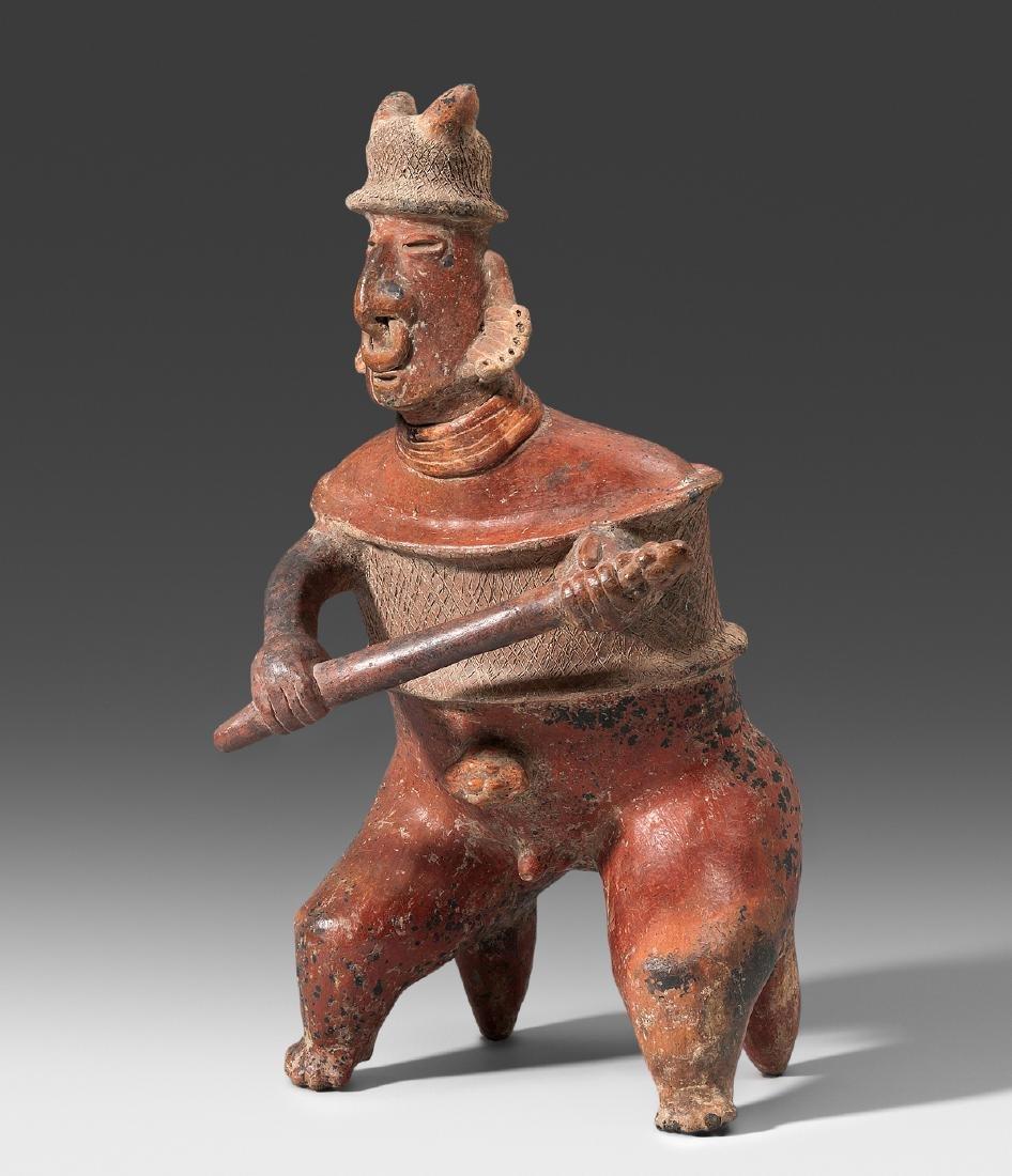 Grosse Kriegerfigur Nayarit, Westmexiko, ca. 100 v.