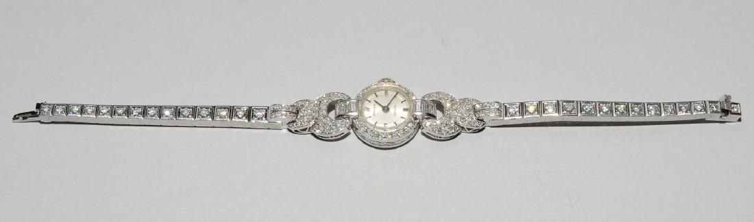 Rolex-Diamant-Damenarmbanduhr Spätes Art Déco. Gehäuse - 2