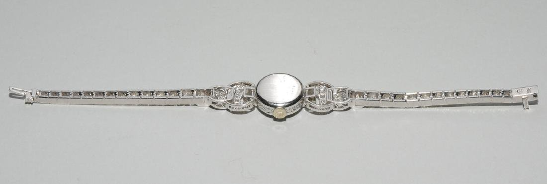 Rolex-Diamant-Damenarmbanduhr Spätes Art Déco. Gehäuse - 3