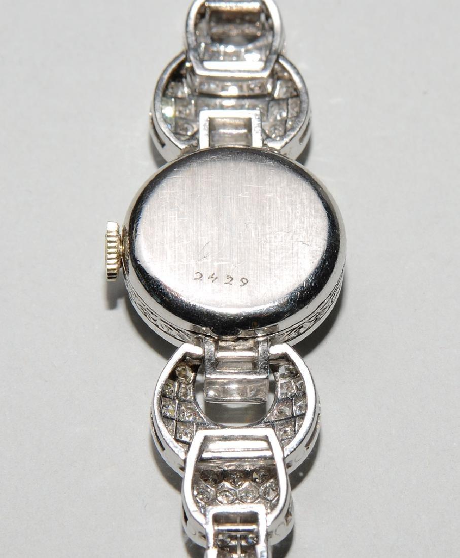 Rolex-Diamant-Damenarmbanduhr Spätes Art Déco. Gehäuse - 5