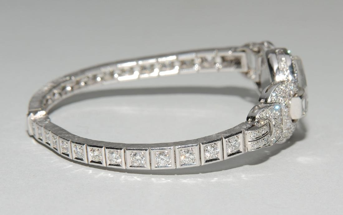 Rolex-Diamant-Damenarmbanduhr Spätes Art Déco. Gehäuse - 8