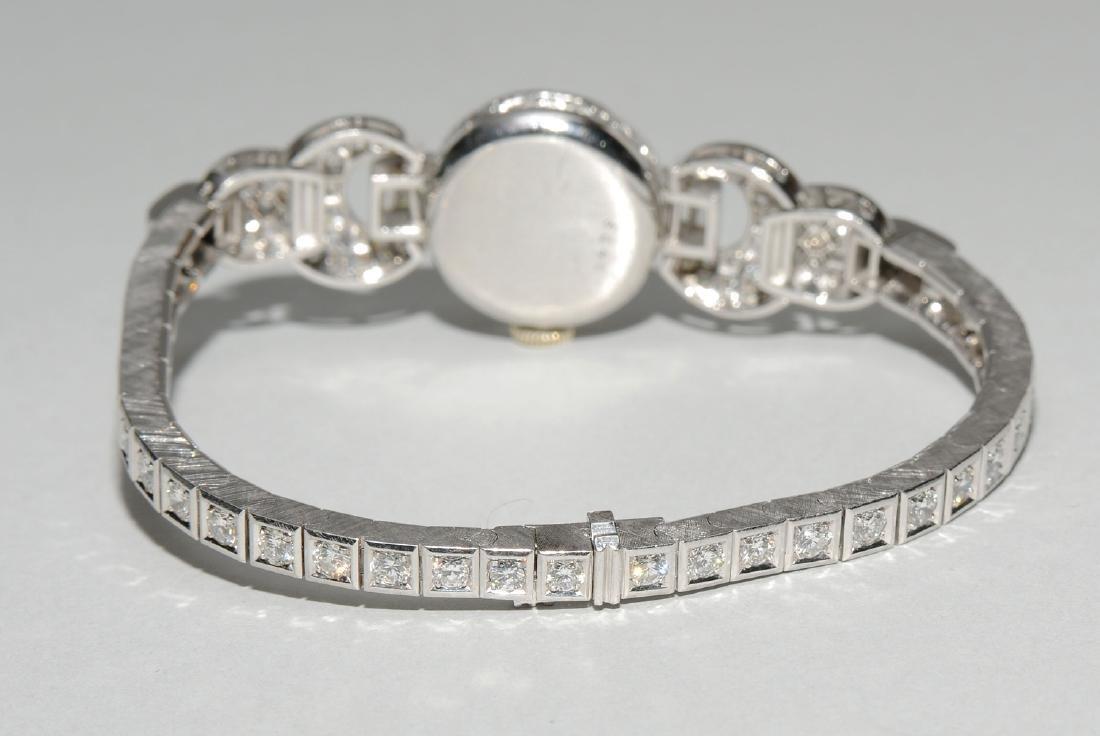 Rolex-Diamant-Damenarmbanduhr Spätes Art Déco. Gehäuse - 9