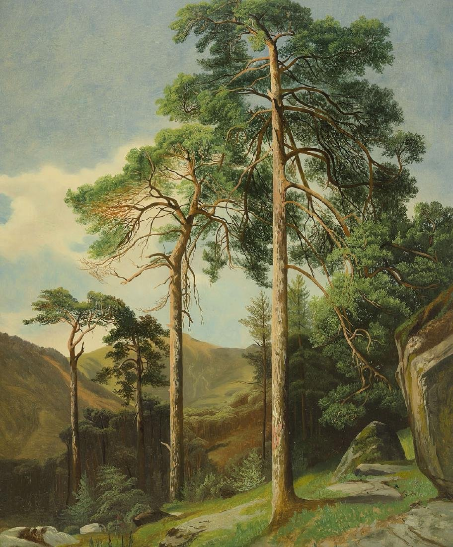 "Calame, Alexandre (Vevey 1810–1864 Menton) ""Pins"","