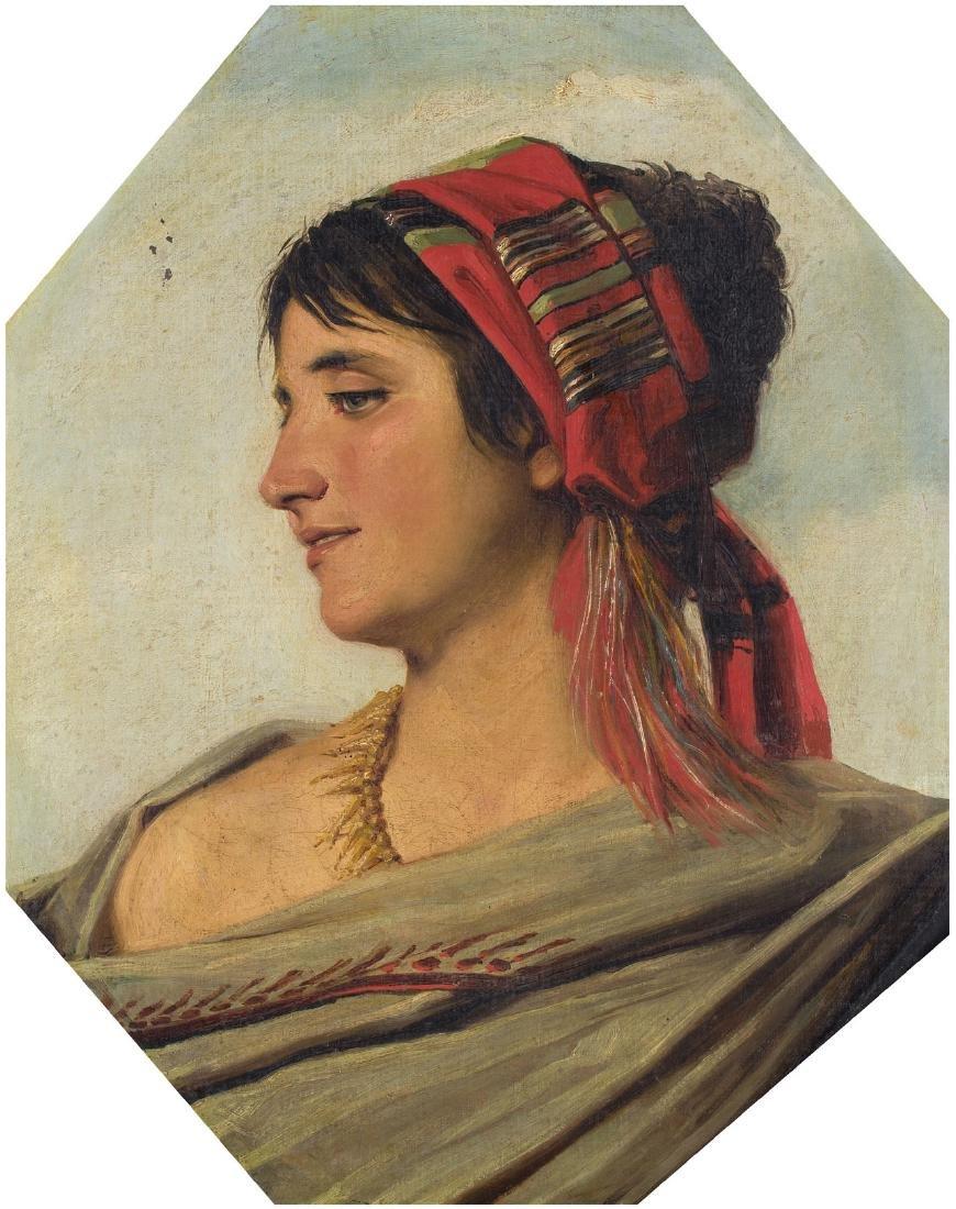 Anonym 2.Hälfte 19.Jh. Portrait einer jungen Zigeunerin