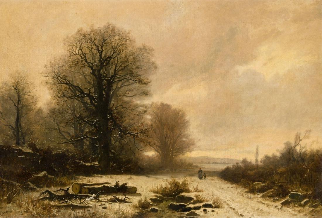 Castan, Gustave (Genf 1823–1892 Crozant) Baumbestandene