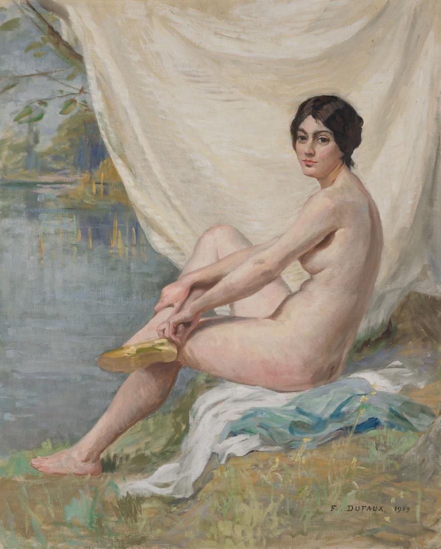 Dufaux, Frédéric (1852 Genf 1943) Akt am Strand, 1919.