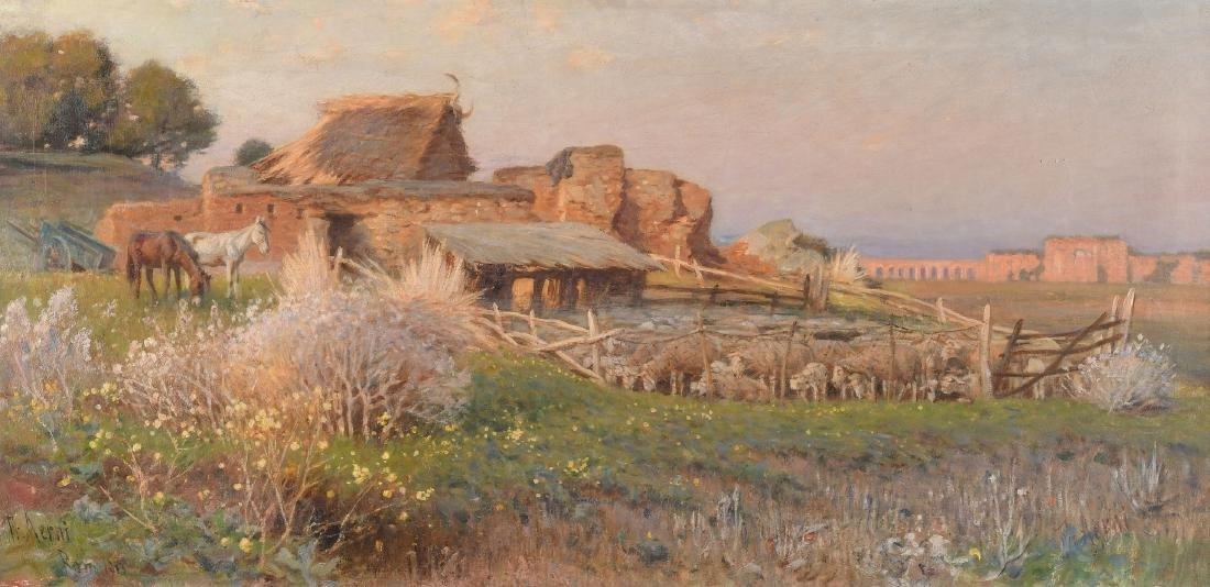 *Aerni, Franz Theodor (1853 Aarburg 1918) Landschaft in
