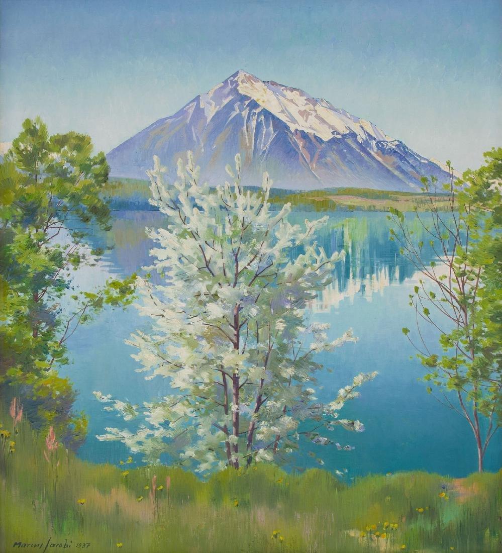 Jacobi, Marcus (Biel 1891–1969 Bern) Der Thunersee mit