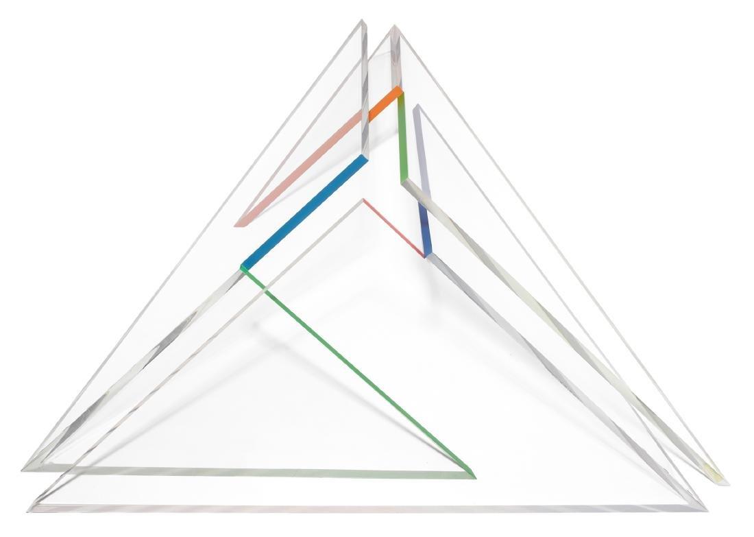 """Rudin, Nelly (Basel 1928) """"Dreieckpyramide"""". 1982/83."""