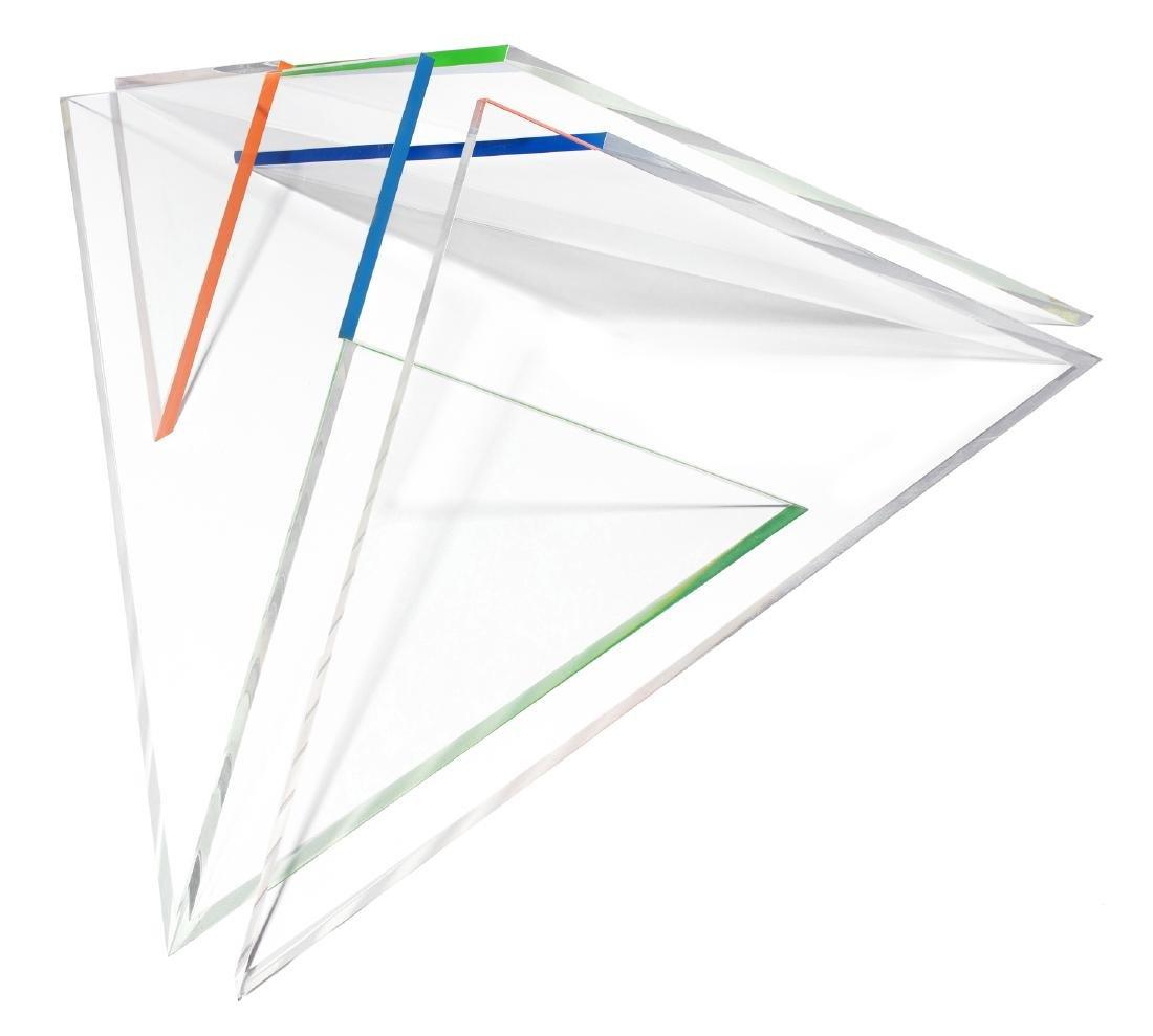 """Rudin, Nelly (Basel 1928) """"Dreieckpyramide"""". 1982/83. - 2"""