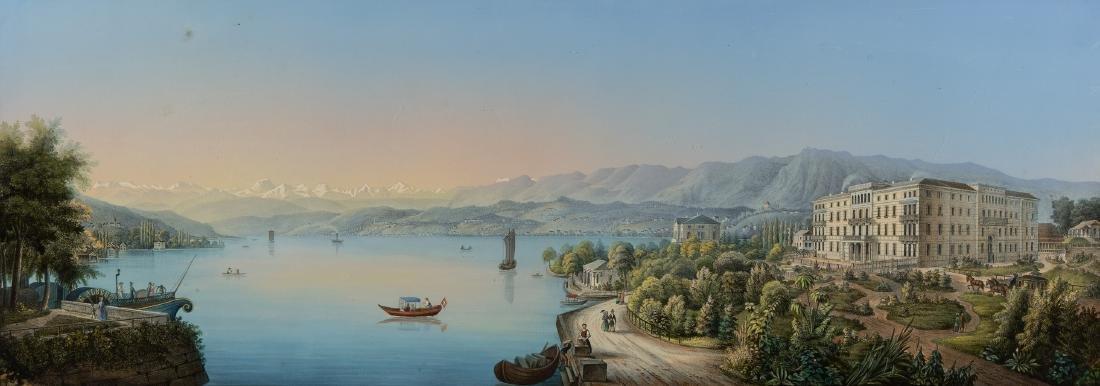 Anonym, um 1850/60 Zürich, Blick von der Talstrasse