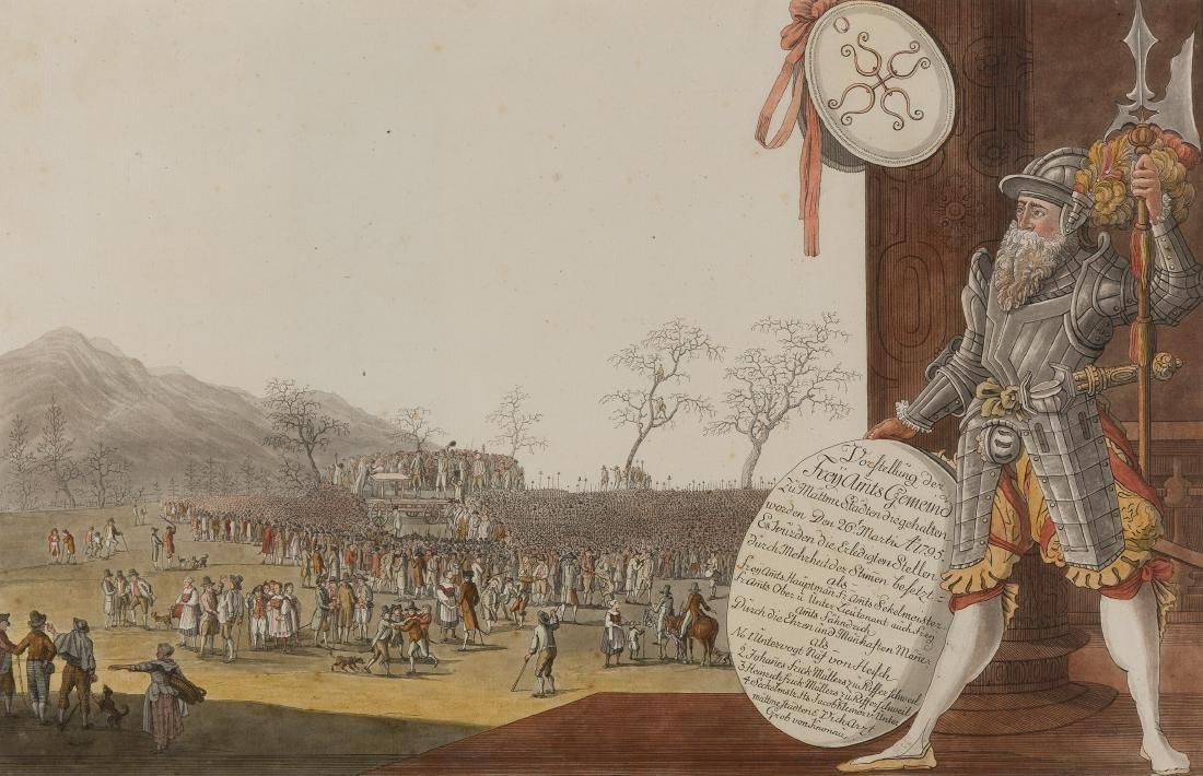 """Aschmann, Johann Jakob (1747 Thalwil 1809) """"Vorstellung"""
