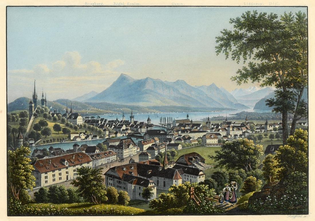 "Dikenmann, Johann Rudolf (1832 Zürich 1888) ""Luzerne"