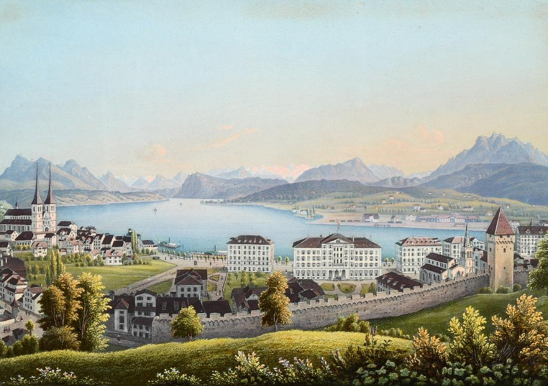 "Dikenmann, Johann Rudolf (1832 Zürich 1888) ""Luzerne""."