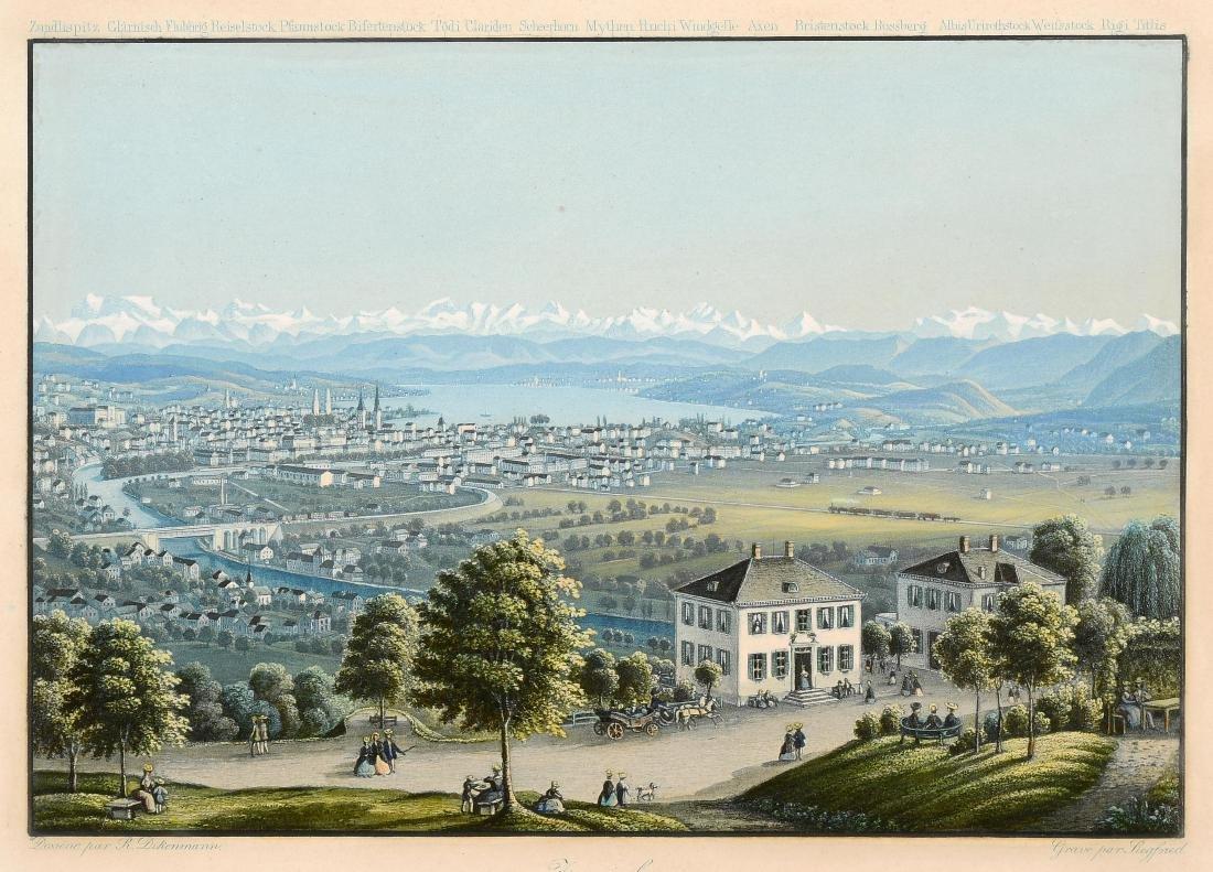 "Dikenmann, Johann Rudolf (1832 Zürich 1888)  ""Zurich."