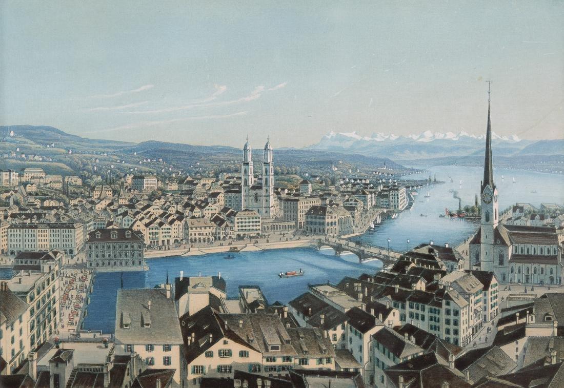 """Dikenmann, Johann Rudolf (1832 Zürich 1888)  """"Zürich""""."""