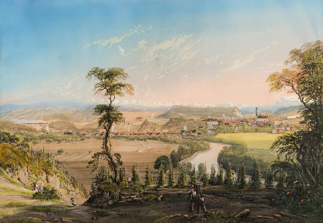 """Eggli, Jakob (Dachsen 1812–1880 Rheinau) """"Andelfingen""""."""