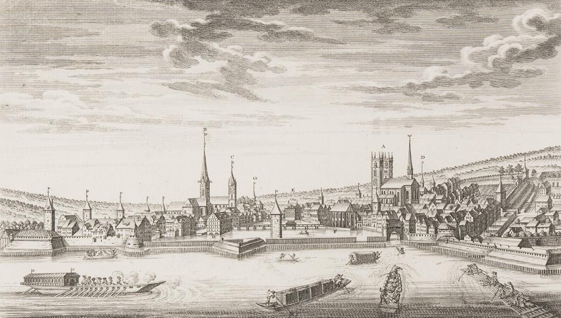 """Herrliberger, David (1697 Zürich 1777) """"Zürich""""."""