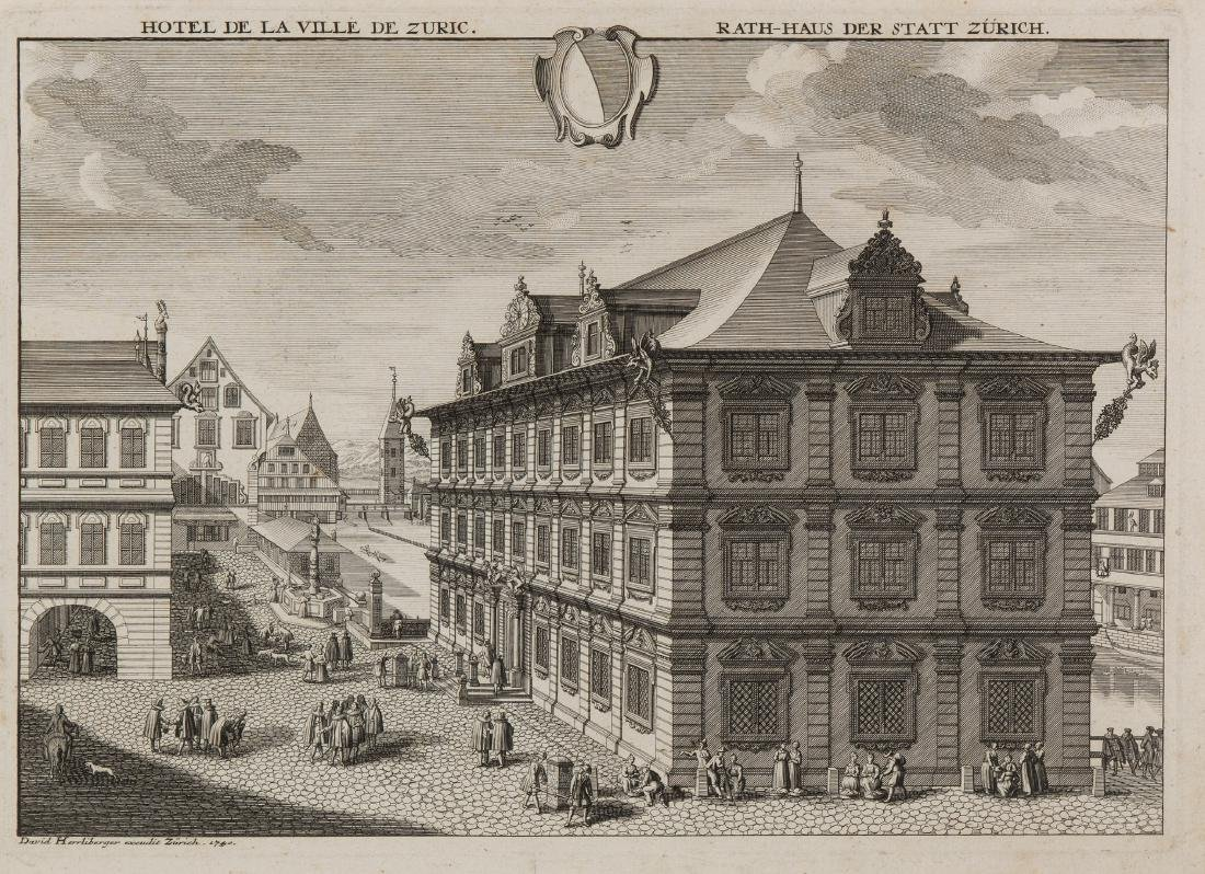 "Herrliberger, David (1697 Zürich 1777) ""Hotel de la"