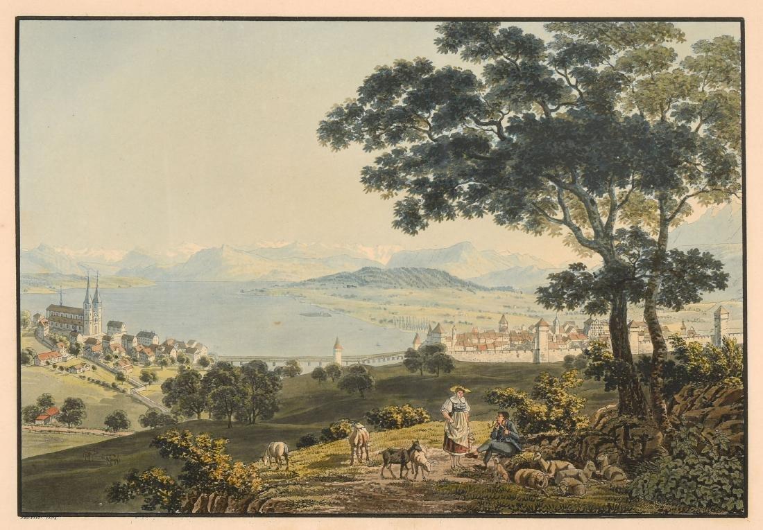 """Keller, Heinrich (1778 Zürich 1862) """"Die Stadt Luzern"""