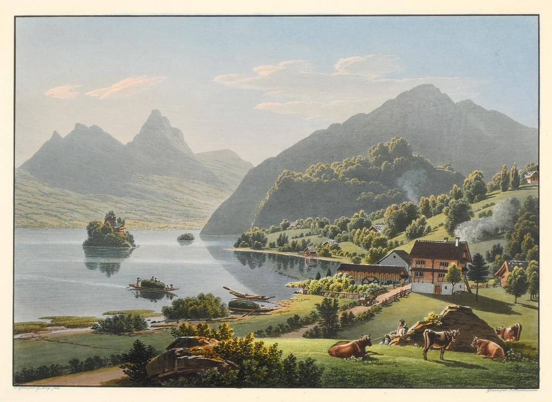 """Lory, Gabriel fils (1784 Bern 1846) """"Vue du Lac de"""