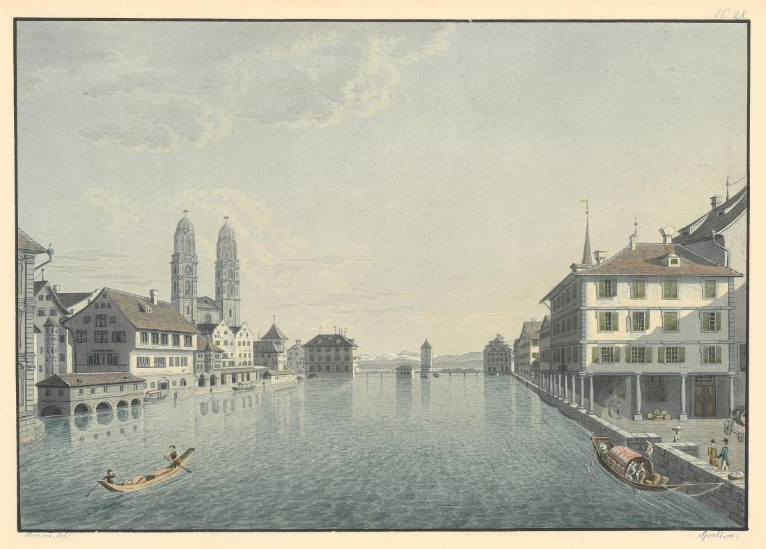 """Sperli, Johann Jakob (Kilchberg 1770–1841 Zürich) """"Vue"""