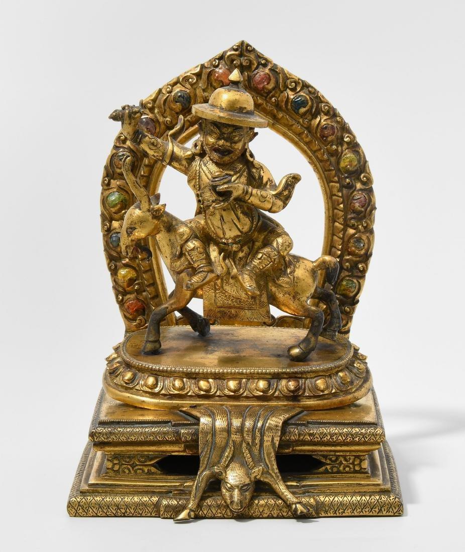 Damcan Sino-tibetisch, 18./19.Jh. Feuervergoldete