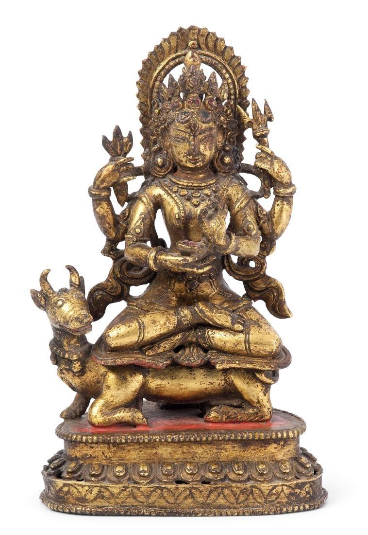 Vierarmiger Bodhisattva Nepal, 18./19.Jh.