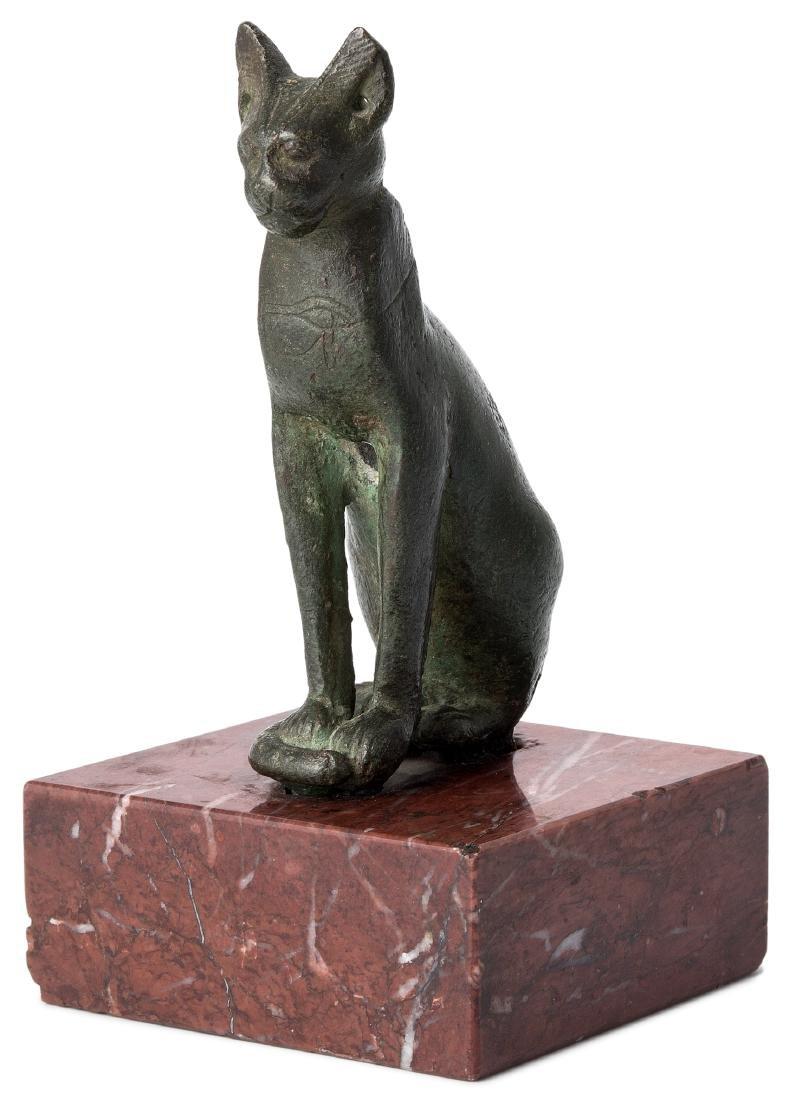 Katze Aegypten, 7.–6.Jh. v. Chr. Bronze. Katze,