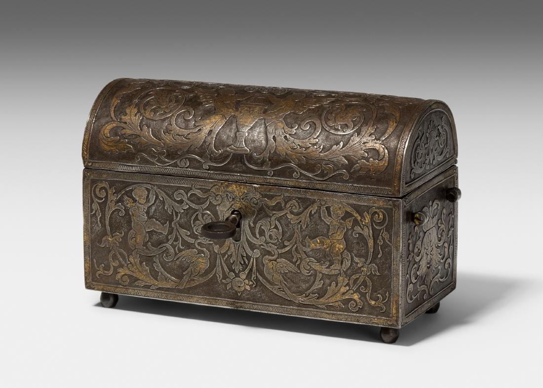 Kästchen Mailand, Renaissance. Eisen, Dekor in
