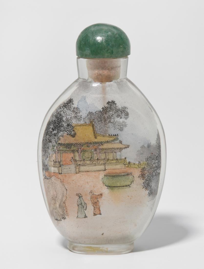 Snuffbottle mit Innenmalerei China. Glas, innen bemalt.
