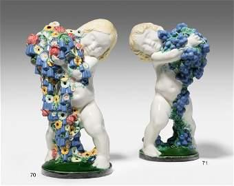Putto mit Blütenkorb, Michael Powolny Um 1908.